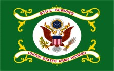 Army Retired Flag