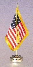 Fringed U.S. Desktop Flag Set