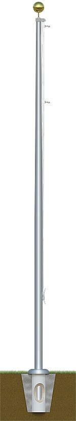 Tapered Aluminum Residential Flagpole