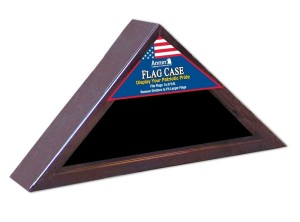 Economy Flag Case - Cherry Finish