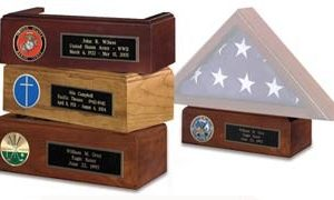 Pedestal for Flag Case - Includes ENGRAVED Plaque & Medallion