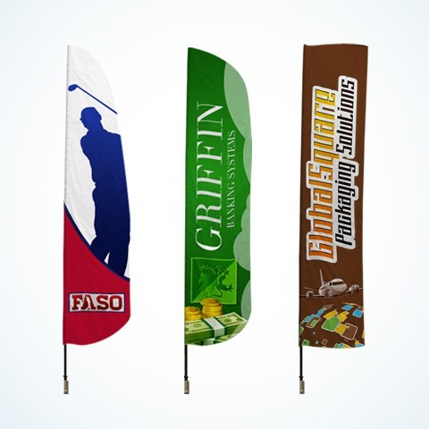 Custom Tall Advertising Flags
