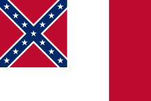Third Confederate nylon flag, 3' x 5'