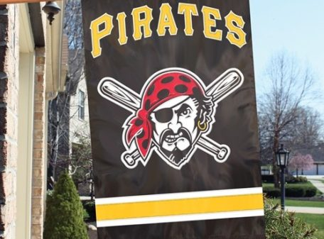 Pittsburgh Pirates Jolly Roger Double-sided Applique Banner