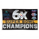 3 ft x 5 ft Steelers 6X Superbowl Champions Flag