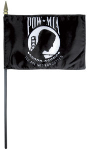 desktop, mounted flag for the POW-MIA