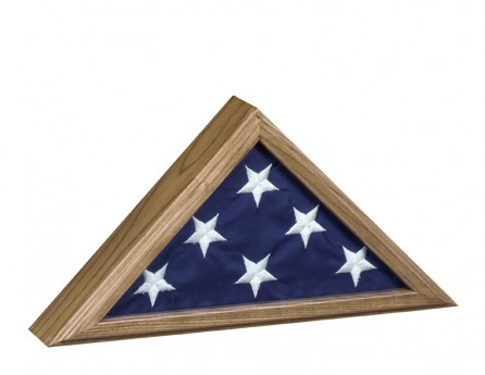 Flag Case-Capitol-11-Oak