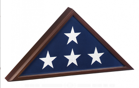 Flag Case-Veteran-Cherry
