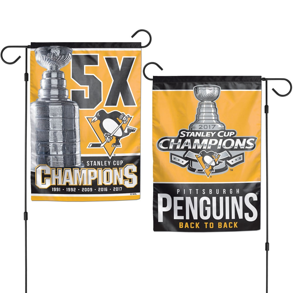 "garden flag, Penguins ""Stanley Cup Champions"""