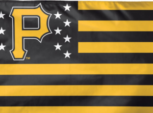 "Pittsburgh Pirates 3 ft x 5 ft Flag – ""USA"""