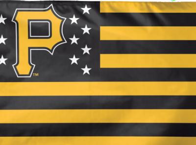 "Pittsburgh Pirates 3 ft x 5 ft Flag – ""USA"""
