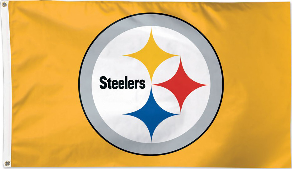 Steeler Logo 3x5 Gold