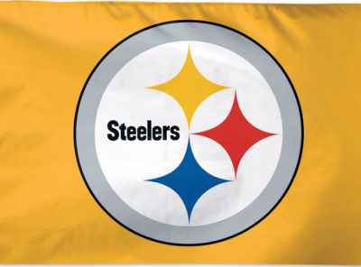 3 ft x 5 ft Steelers Logo Flag (Gold)