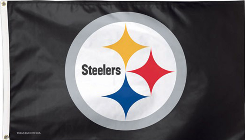 Steelers Logo Flag 3x5 -WC copy