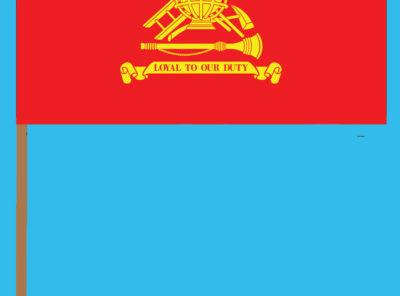 Firefighter Flag – 12″ x 18″ on staff