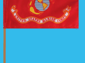 Marine Corps Flag – 12 in x 18 in on staff