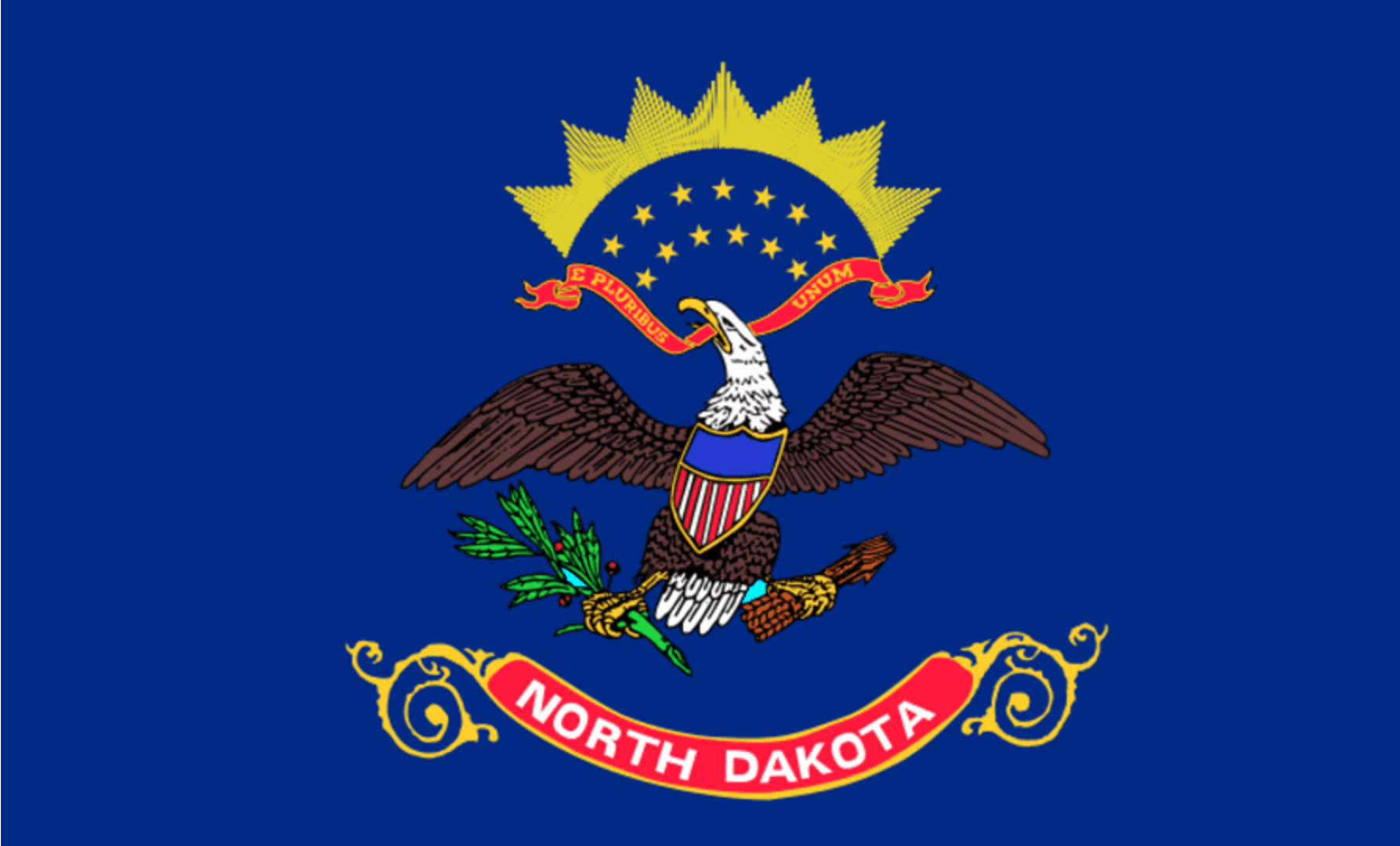 State flag of North Dakota