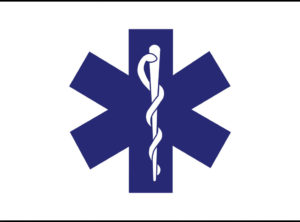 Star of Life Flag  3 ft x 5 ft