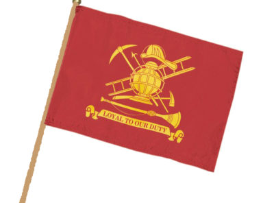 Firefighter Flag – 12 in x 18 in on staff