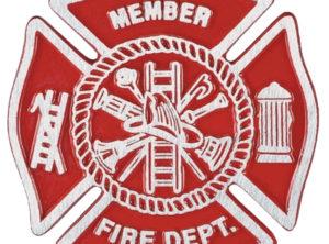 Firefighter Gravemarker – Red Aluminum