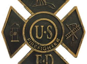 Firefighter (Black) Gravemarker