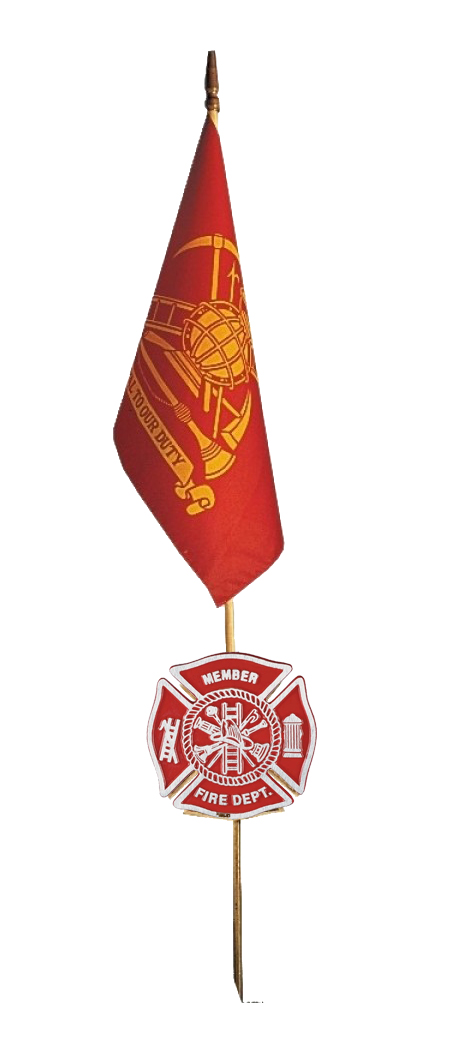 Gravemarker & Flag - Firefighter-2