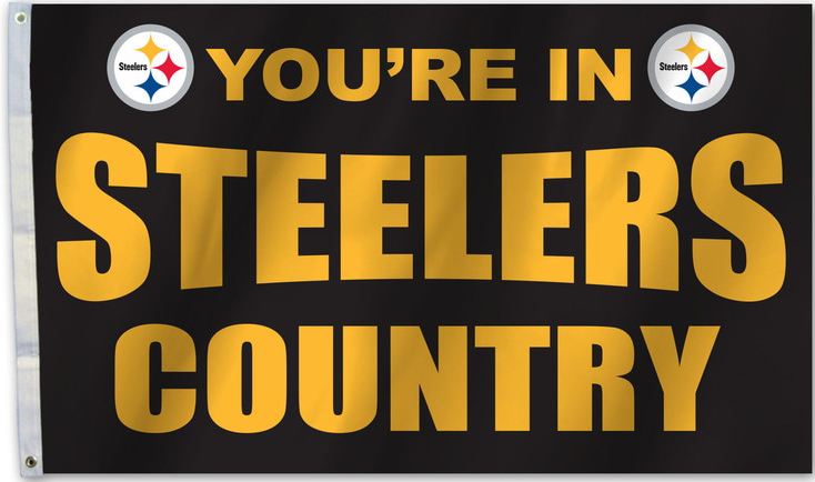 "3 ft x 5 ft "" Your in Steelers Country """