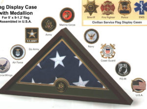 Medallion Flag Display Case