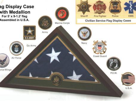 Medallion Flag Display Case